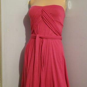 🎃MULTI-WAY PINK DRESS SMALL